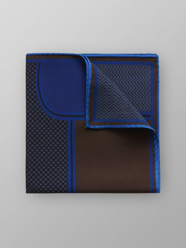 Geometric Fuji Silk Pocket Square