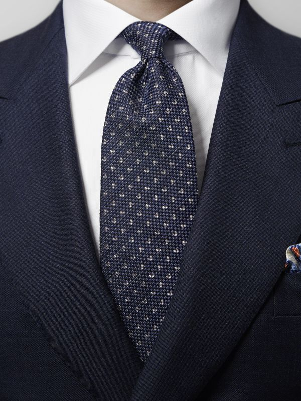 Pin-Dots Cotton & Silk Tie