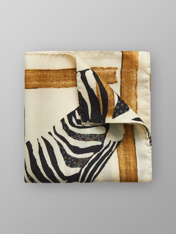 Zebra Print Pocket Square