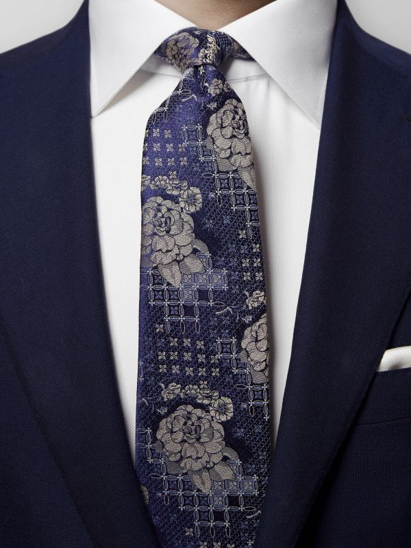 Floral Silk & Cotton Tie