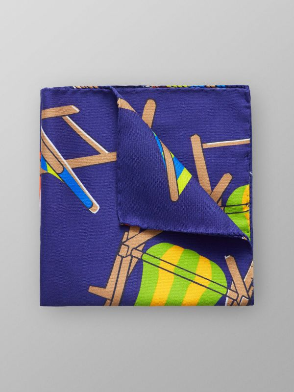 Sun Chair Print Pocket Square