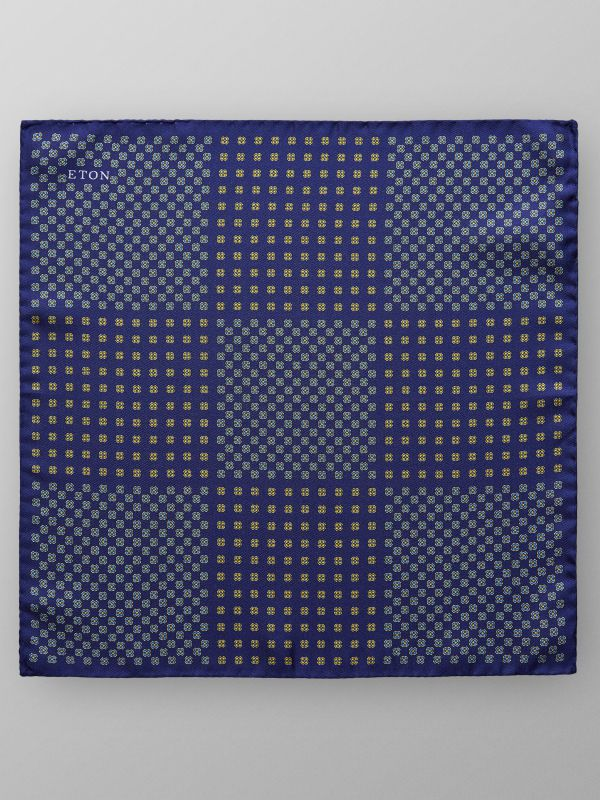 Purple Medallion Print Pocket Square