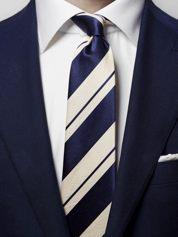 Bold Striped Silk & Cotton Tie