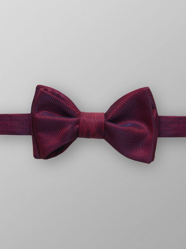 Red Silk Weave Bow Tie