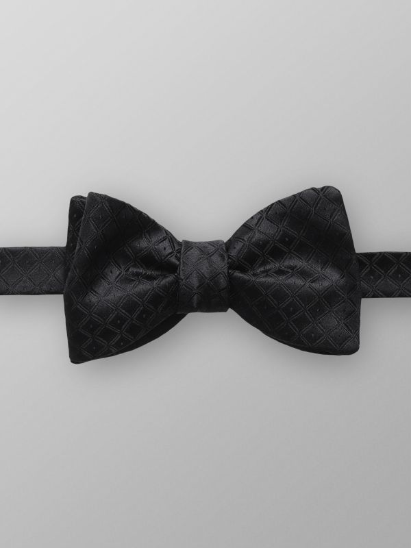 Black Grenadine Bow Tie - Ready Tied Eton Sx3YO