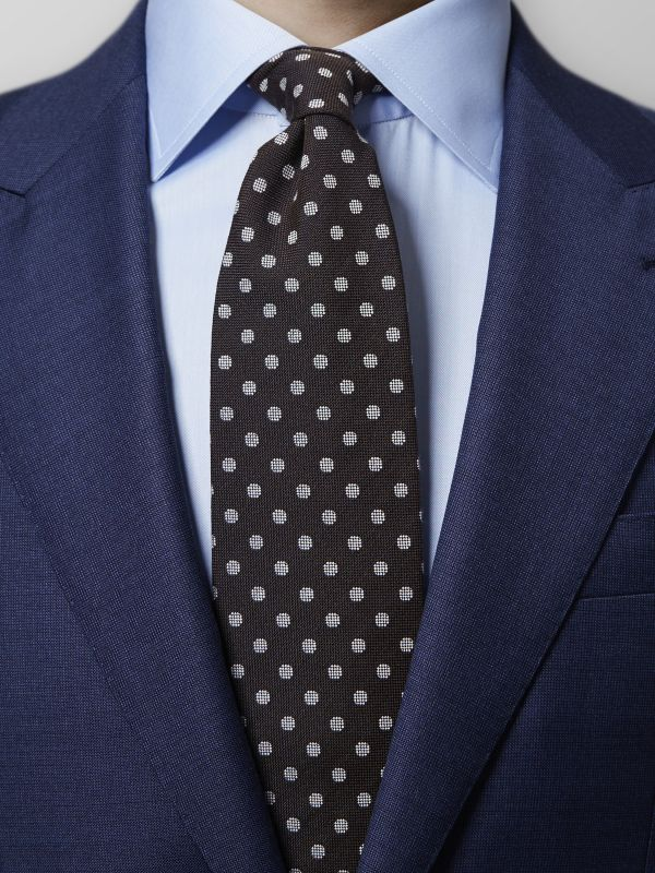 Dark Brown Polka Dot Tie