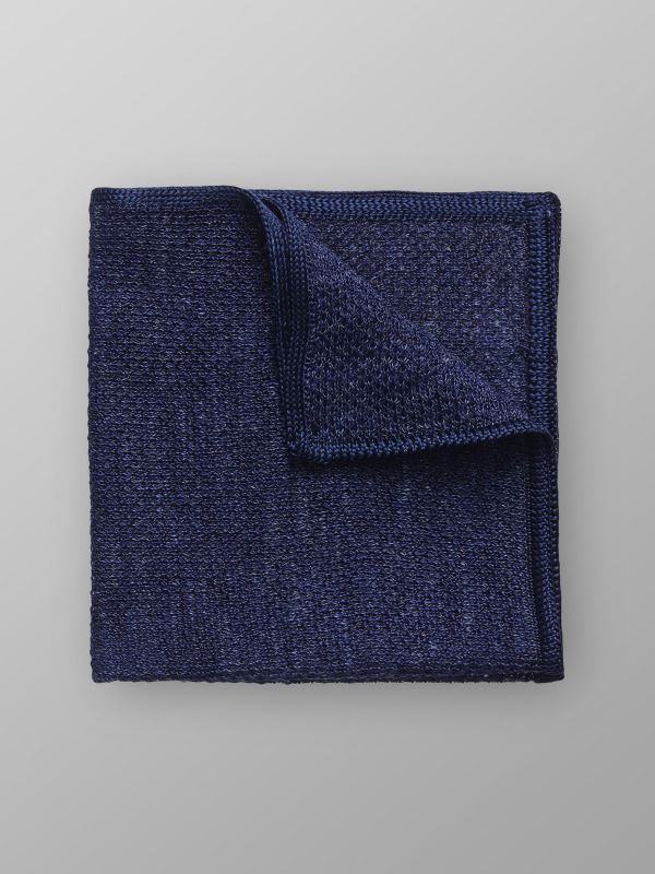 Navy Knit pocket Square