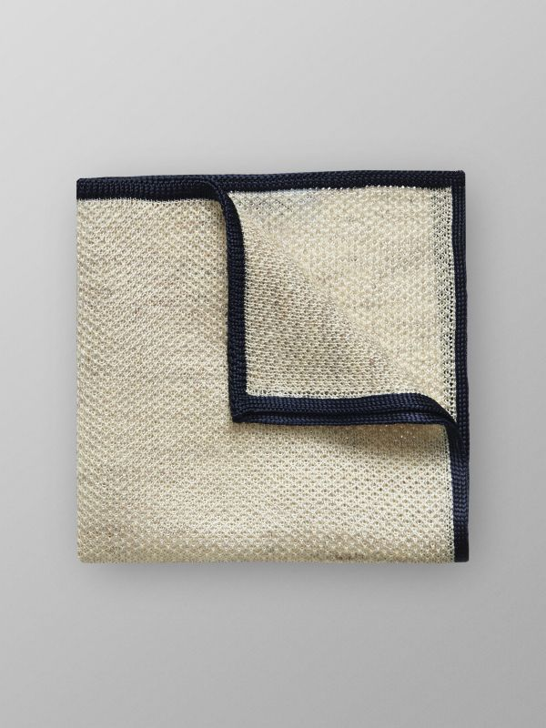 Beige Knit Pocket Square