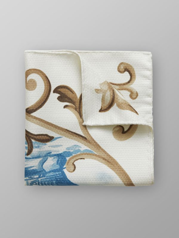Ship Print Pocket Square