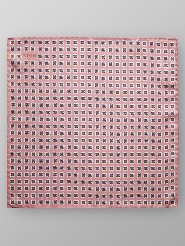 Pink Medallion Pocket Square