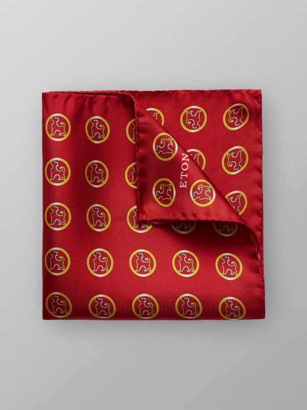 Red Small Dog Pocket Square