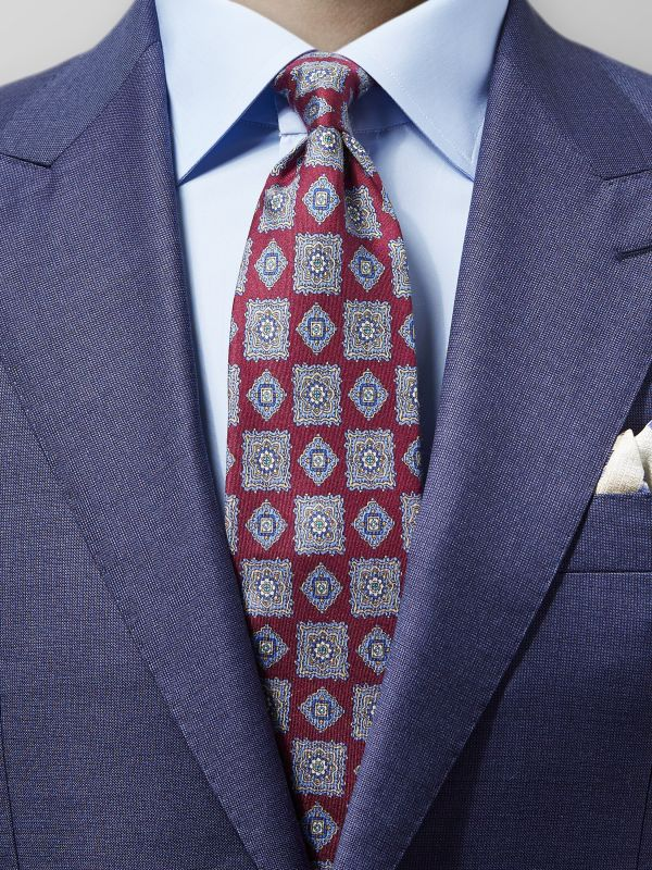 Red Medallion Silk Tie