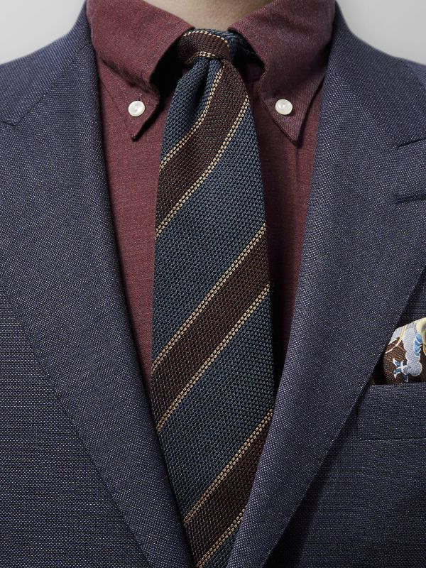 Brown Wool & Silk Tie