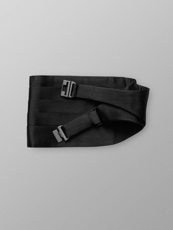Black Silk Cumberbund Small