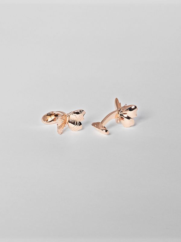 Butterfly Cufflinks - Rose Gold Colour