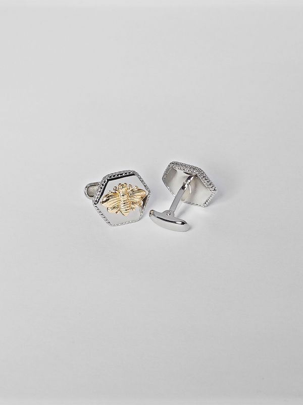 Honeycomb Bee Cufflink