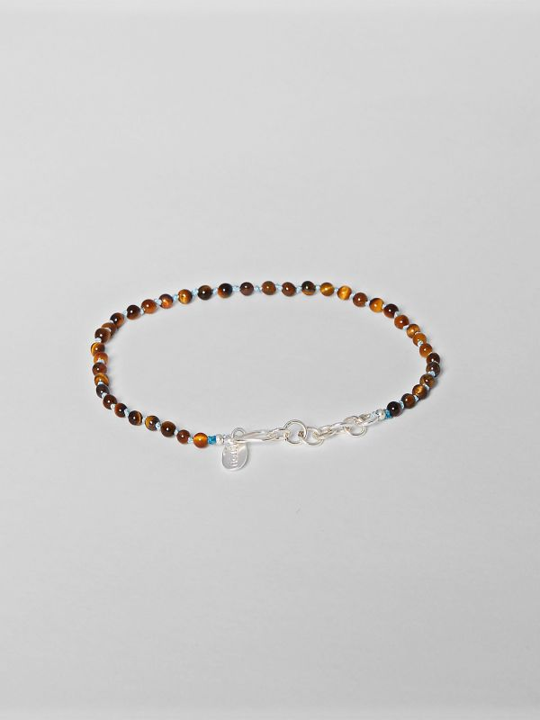Brown Knotted Semi-precious Stone Bracelet